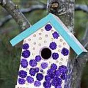 Cute Little Birdhouse Poster by Carol Leigh