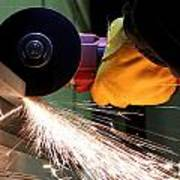 Cutting Steel Poster