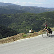 Cycling In Greek Mountains Poster