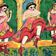 Czardas Dancers, 1908-20 Poster