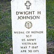 D. H. Johnson - Medal Of Honor Poster