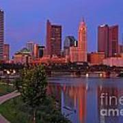 D2l38 Columbus Ohio Skyline Photo Poster