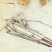 Da Vinci Flying Machine 1485 Poster