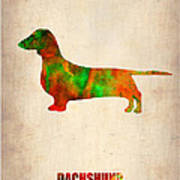 Dachshund Poster 2 Poster by Naxart Studio