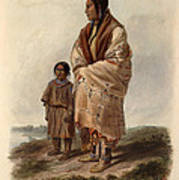 Dacota Woman And Assiniboin Girl Poster