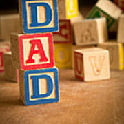 Dad - Alphabet Blocks Fathers Day Poster