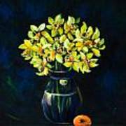 Daffodils And Fruit Poster