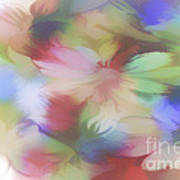 Daisy Floral Abstract Poster