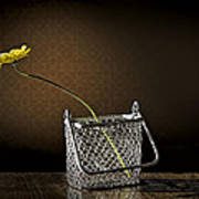 Daisy In A Chain Basket Poster