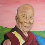 Dalai Lama Portrait Poster by Erik Franco