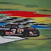 Dale Earnhardt Wins Daytona 500-infield Doughnuts Poster