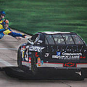 Dale Earnhardt Wins Daytona 500-pit Road Hand Shake Poster