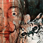 Dali And His Cat Poster