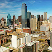 Dallas Skyline As Seen From Reunion Poster