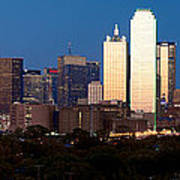 Dallas Skyline Sunset Poster