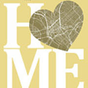 Dallas Street Map Home Heart - Dallas Texas Road Map In A Heart Poster