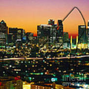 Dallas Texas Skyline In A High Heel Pump Poster