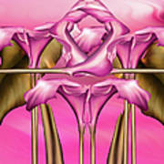 Dance Of The Pink Calla Lilies IIi Poster