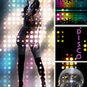 Dance Series - Disco Poster by Linda Lees