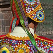 Dancer In Native Costume Peru Poster