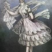 Dancer Maria Taglioni In The Ballet Le Poster