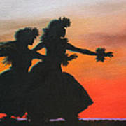 Dancers At Sunset Poster