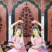 Dancers In Mughal Court Poster