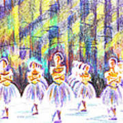 Dancers In The Forest Poster