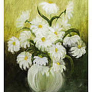 Dancing Daisies Poster by Nancy Edwards