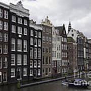 Dancing Houses Damrak Canal Amsterdam Poster