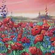 Dancing Poppies Poster by Andrei Attila Mezei