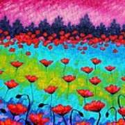 Dancing Poppies Poster