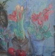 Dancing Still Life In Pastel Poster