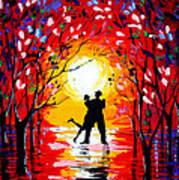 Dancing Sunset Original Painting Poster