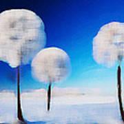 Dandelion Puffs In Winter Poster