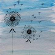 Dandelion Wind Poster