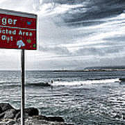 Danger Restricted Area Keep Out Poster