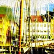 Danish Harbor Poster