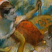 Danseuse A L'eventail Poster by Edgar Degas