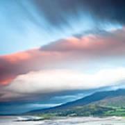 dark clouds over Irish coast Dingle peninsula Poster