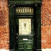 Dark Green Doorway Photograph Print Poster