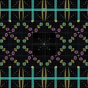 Dark Grid Quilt Poster