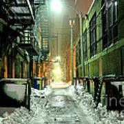 Dark Gritty Alleyway Poster