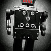 Dark Metal Robot Oil Poster
