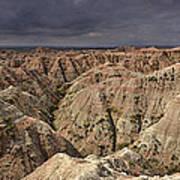 Dark Panorama Over The South Dakota Badlands Poster
