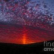 Dark Red Sunset Poster