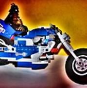 Darth Vader Rides A Harley  Hdr Poster