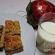 Date Squares - Snack - Dessert - Milk Poster