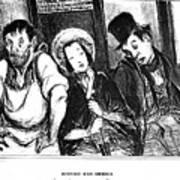 Daumier Omnibus, 1841 Poster
