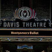 David Theatre Neon - Montgomery Alabama Poster